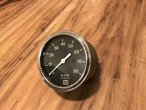 Vintage Stewart Warner 8000 Rpm Tachometer Gauge Instrument Hot Rod Scta Sw Dash
