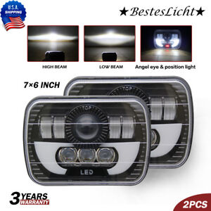 5x7 7x6 120w H4 Epistar Led Chrome crystal Sealed Beam Headlight Lamp Assembly