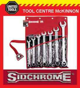 Sidchrome Scmt22209 7pce Large Sizes Ring Amp Open End Metric Spanner Set