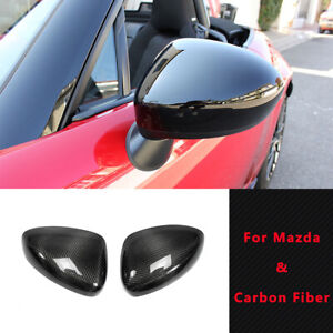 Oem Carbon Side Mirror Trim Stick Cover 2pcs Kit For Mx5 Nd Nd5rc Miata Roadster