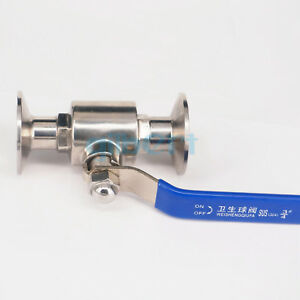 3 4 19mm Pipe Od Sus304 Sanitary 1 5 Tri Clamp Ball Valve Home Brew Beer