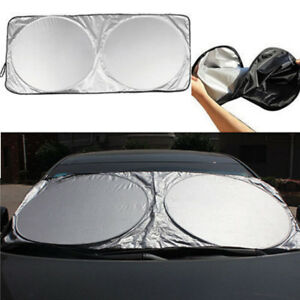 Best Folding Jumbo Front Car Window Sun Shade Auto Visor Windshield Block Cover