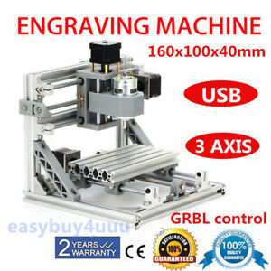 3 Axis 1610 Mini Cnc Router Engraver Diy 500mw Laser Pro Engraving Machine Grbl