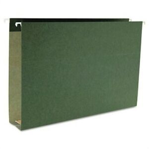 Two Inch Capacity Box Bottom Hanging File Folders Legal Std Green 25 box