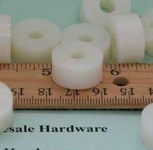 Nylon Spacer 3 4 od 1 4 id 3 8 Long Natural White Pick Your Quantity