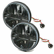 Truck Lite 27270c 7 Round Led Headlights Pair Hummer Jeep Wrangler Cj Tj Jk