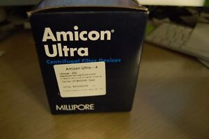 Millipore Amicon Ultra 4 Ultracel 30k Concentrator Centrifugal Qsw Ufc803096