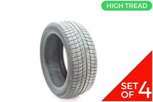 Set Of 4 Used 225 45r17 Michelin X Ice Xi3 94h 8 8 5 32