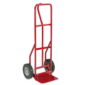 Safco Two wheel Steel Hand Truck 500lb Capacity 18w X 47h Red 4084r