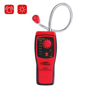 Natural Gas Leak Detector Combustible Sniffer Propane Sensor Alarm Lcd Display