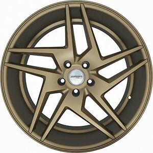 4 Wheels 20 Inch Staggered Bronze Razor Rims Fits Ford Shelby Gt 500 2007 2018