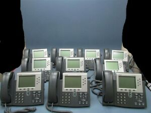 Lot Of 10 Used Cisco Ip Phone 7900 Series Cp 7961g Telephones