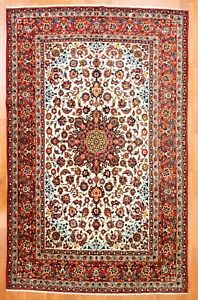 Handsome Isfahan 1940s Antique Persian Rug Oriental Floral 8 6 X 13 2