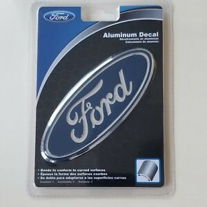 Ford Chrome Aluminum Metal Emblem Decal For Cars Trucks Hood Fender Trunk Window