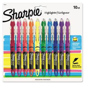 Sharpie Liquid Highlighters Chisel Tip Assorted Colors 10 Count