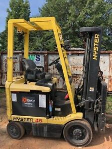 Hyster 45 Electric E50xn 33 Forklift 4500 Lbs Side Shift 3 Stage Mast 12 Height
