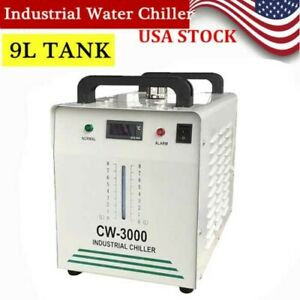 Industrial Water Chiller For 60w 80w Co2 Glass Laser Tube Cooling Cw 3000 Usa