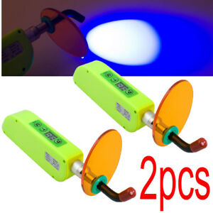 2pcs Dental Wireless Cordless Led Cure Curing Light Lamp 1500mw For Dentist New