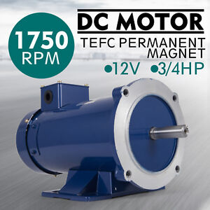 Dc Motor 3 4hp 56c Frame 12v 1750rpm Tefc Magnet Smooth Durable Versatility