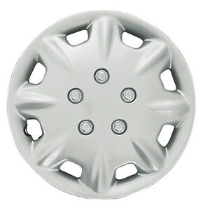 Wheel Covers Hubcaps Aftermarket New Set Of 4 Silver Painted 15 Inch 8 Spokes