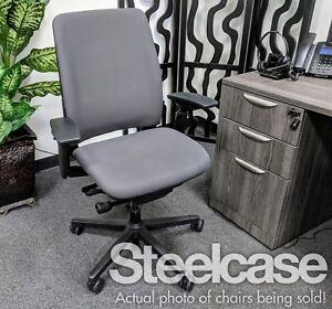 Ergonomic Steelcase Office Chair Genuine Graphite Gray Amazing Condition