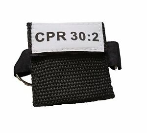 100 Black Cpr Mask Keychain Face Shield With Gloves Imprinted Cpr 30 2