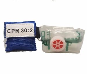 100 Blue Cpr Facial Shield Mask In Pocket Keychain Imprinted Cpr 30 2