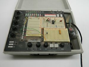 Electronic Circuit Trainer With Clock And Breadboards