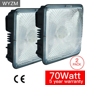 2pack 70w Led Canopy Light Commerical Grade Ip65 Weatherproof Outdoor High bay