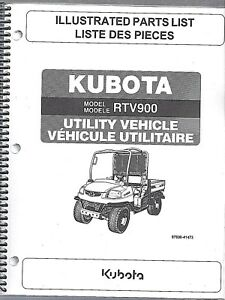Kubota Rtv900 Utility Vehicle side By Side Illustrated Parts Manual 97898 41473