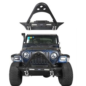 Stinger Front Bumper Fit 1987 2006 Jeep Wrangler Tj Yj W Led Lights