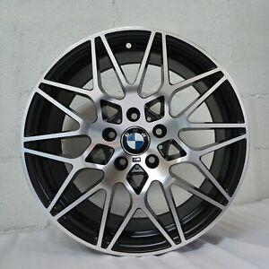 4 Wheels 18 Inch Satin Black Machined Rims Fits Bmw 3 Series Sedan E90 2006 11