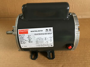 Dayton Industrial Motor 1 2hp 115 208 230v Ph1 Model 6k361bb New Old Stock