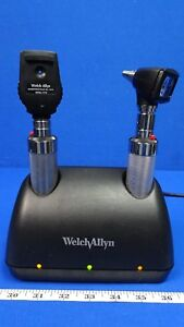 Welch Allyn 7114x Universal Charger Diagnostic Set 25020a Otoscope And 11710 Oph
