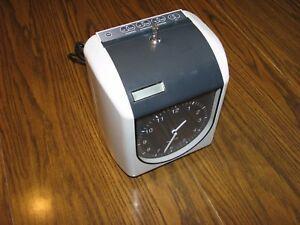 Compumatic Time Clock Tr440a Electronic Time Card Work Clock