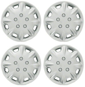 Wheel Covers Hubcaps Aftermarket New Set Of 4 Silver Painted 14 Inch 8 Spokes
