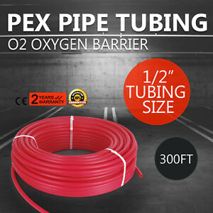 1 2 X 300 Feet Pex Tubing Pipe For Potable Water Non Oxyegen Barrier Red