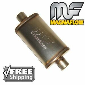 Magnaflow 3 Inlet outlet 5x8 Oval Universal Muffler Center Stainless Steel Ss