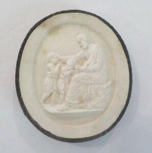 Authentic Grand Tour Classic Plaster Cameo Intaglio Medallion C 1820 7