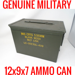 50 CAL AMMO CAN BOX US MILITARY 5.56MM PERFECT FOR LITHIUM BATTERY STORAGE 18650
