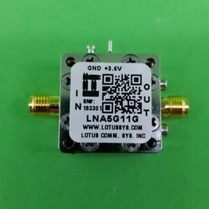 Broadband Low Noise Amplifier 1 8db Nf 5g 11ghz 20db Gain 16dbm P1db Sma