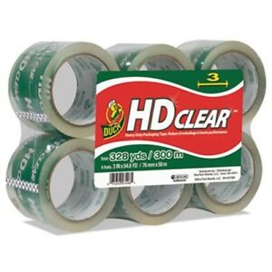 Heavy duty Carton Packaging Tape 3 X 55yds Clear 6 pack