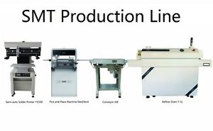 Smt Line Smd Pick And Place Machine Neoden4 solder Printer conveyor reflow Oven