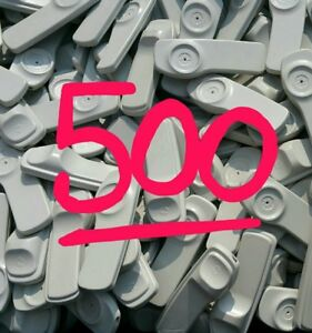 Lot Of 500 And Pins Security Sensormatic Supertags Retail Anti Theft Tags 58khz