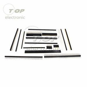 Pin Header Strip 3 40 Pin 1 27 2 0 2 54mm Round Row Angle Male Female