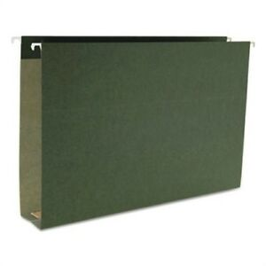 Two Inch Capacity Box Bottom Hanging File Folders Legal Green 25 box