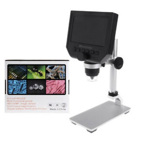 Digital Microscope Hd 3 6mp 1 600x Magnifier Portable 4 3 Lcd Screen Tool 1080p