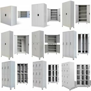 Metal Storage Office Cabinet Locker Cupboard Shelves Company School Wardrobe Us