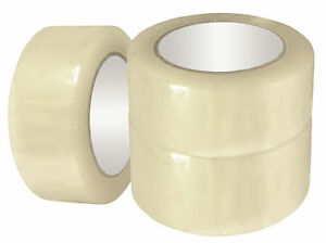 3 Or 2 X 110 Yards 330 Ft Box Carton Sealing Packing Package Tape Clear Tan