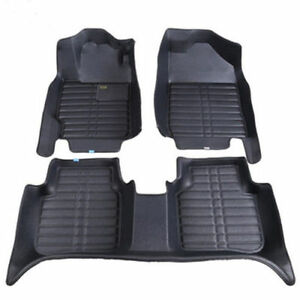 For Toyota Camry 2007 2018 Car Floor Mats Leather Front Rear Liner Waterproof